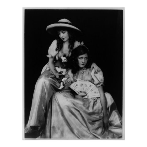 Portrait of Dorothy and Lillian Gish Poster