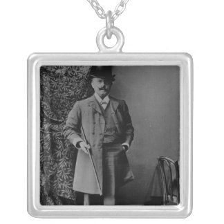 Portrait of Dr. Barnardo Silver Plated Necklace