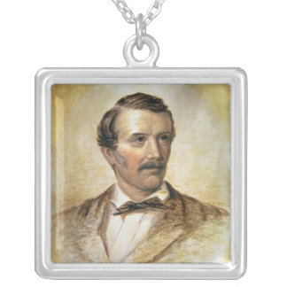 Portrait of Dr David Livingstone Silver Plated Necklace
