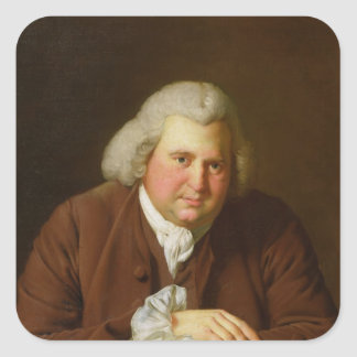 Portrait of Dr Erasmus Darwin Square Sticker