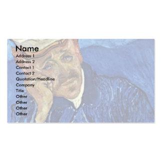 Portrait Of Dr. Gachet By Vincent Van Gogh Business Card Template