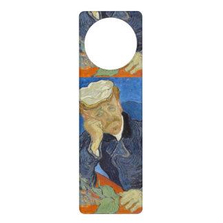Portrait of Dr Gachet by Vincent Van Gogh Door Knob Hangers