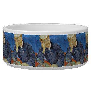 Portrait of Dr Gachet by Vincent Van Gogh Dog Food Bowls