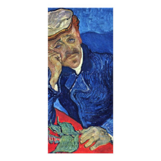 Portrait Of Dr. Gachet By Vincent Van Gogh Rack Card Template
