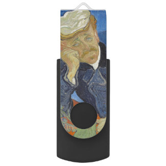 Portrait of Dr Gachet by Vincent Van Gogh Swivel USB 2.0 Flash Drive
