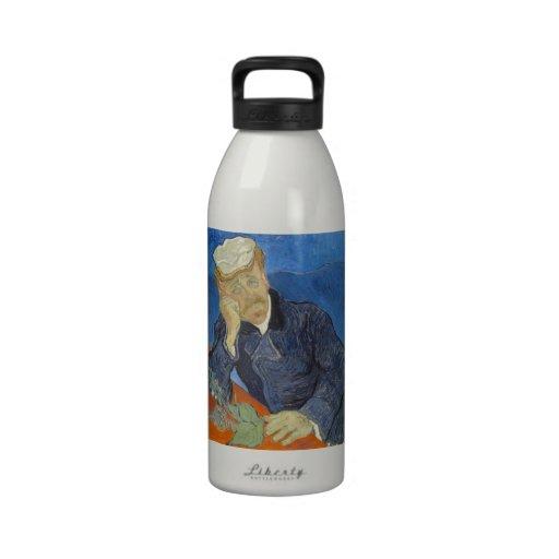 Portrait of Dr Gachet by Vincent Van Gogh Drinking Bottle
