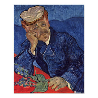 Portrait of Dr. Gachet by Vincent Willem van Gogh Poster