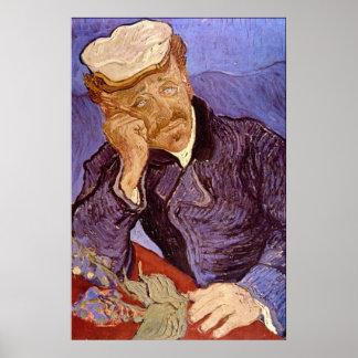 Portrait of Dr Gachet by Vincent Willem van Gogh Poster
