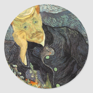 Portrait of Dr. Gachet Round Sticker