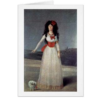 Portrait Of Duchess Of Alba By Francisco De Goya Card