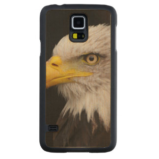 Portrait of eagle carved maple galaxy s5 case