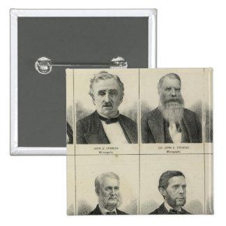 Portrait of Early Settler Morrison, Minnesota 15 Cm Square Badge