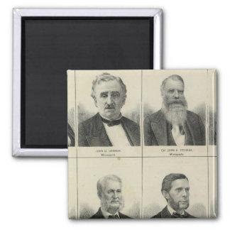 Portrait of Early Settler Morrison, Minnesota Square Magnet