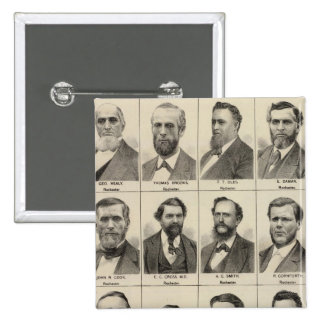 Portrait of Early Settlers and Farmers, Minnesota 15 Cm Square Badge