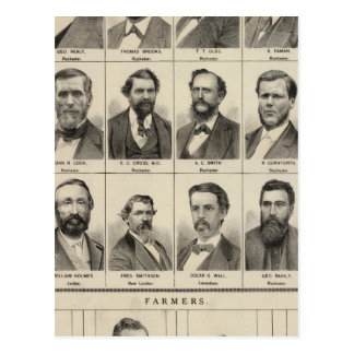 Portrait of Early Settlers and Farmers, Minnesota Postcard