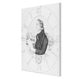 Portrait of Ebenezer Sibly surrounded Canvas Print