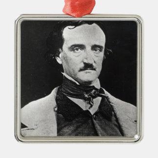 Portrait of Edgar Allan Poe Christmas Ornament
