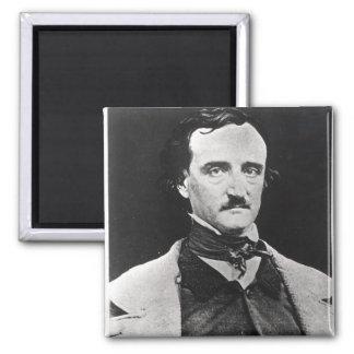 Portrait of Edgar Allan Poe Square Magnet
