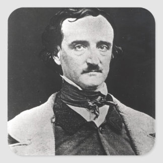 Portrait of Edgar Allan Poe Square Sticker
