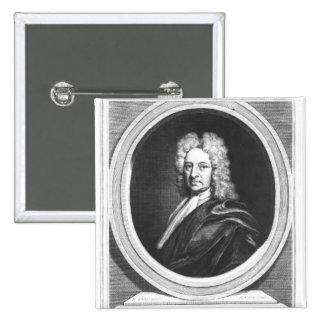 Portrait of Edmond Halley 15 Cm Square Badge