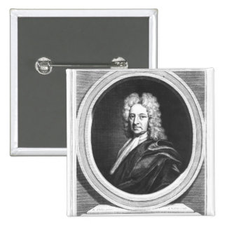 Portrait of Edmond Halley Pinback Button