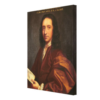 Portrait of Edmond Halley, c.1687 Canvas Print