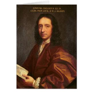 Portrait of Edmond Halley, c.1687 Greeting Card