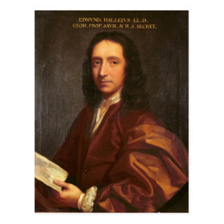 Portrait of Edmond Halley, c.1687 Postcard