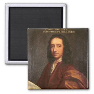 Portrait of Edmond Halley, c.1687 Square Magnet