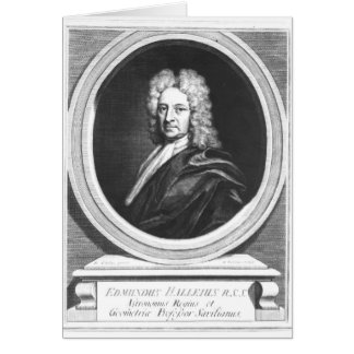 Portrait of Edmond Halley Greeting Card