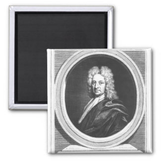 Portrait of Edmond Halley Refrigerator Magnet
