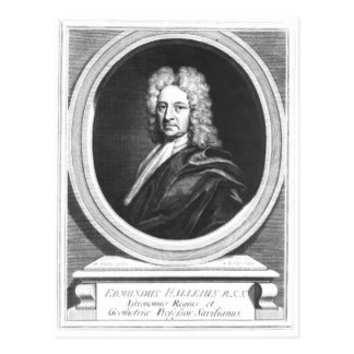 Portrait of Edmond Halley Postcard
