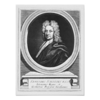 Portrait of Edmond Halley Posters