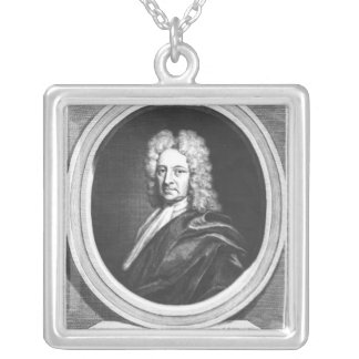 Portrait of Edmond Halley Silver Plated Necklace