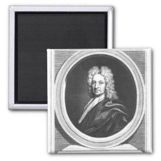 Portrait of Edmond Halley Square Magnet