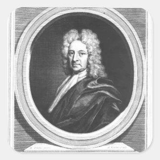 Portrait of Edmond Halley Square Sticker
