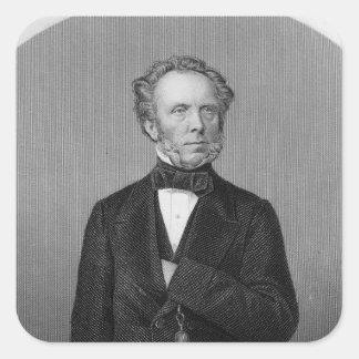 Portrait of Edward Baines Square Sticker