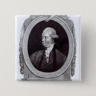 Portrait of Edward Gibbon 15 Cm Square Badge