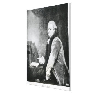 Portrait of Edward Gibbon Canvas Print