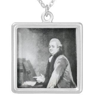 Portrait of Edward Gibbon Silver Plated Necklace