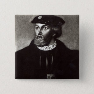 Portrait of Edward, Third Duke of Buckingham 15 Cm Square Badge