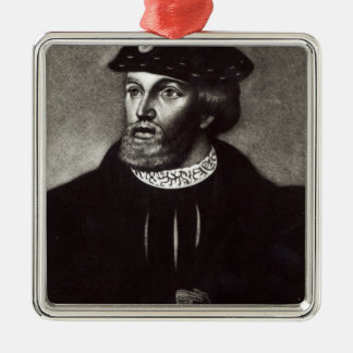 Portrait of Edward, Third Duke of Buckingham Silver-Colored Square Decoration