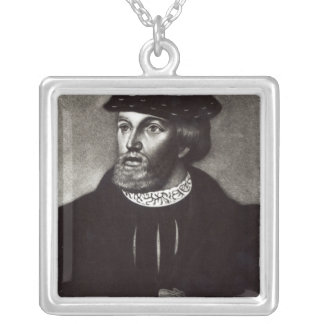 Portrait of Edward, Third Duke of Buckingham Silver Plated Necklace