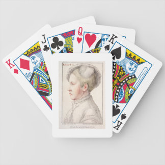 Portrait of Edward VI (1537-53) engraved by France Bicycle Playing Cards
