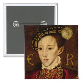 Portrait of Edward VI 15 Cm Square Badge