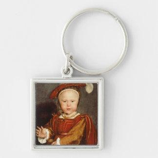 Portrait of Edward VI as a child, c.1538 Silver-Colored Square Key Ring