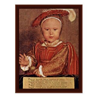 Portrait Of Edward Vi. As A Child Postcard