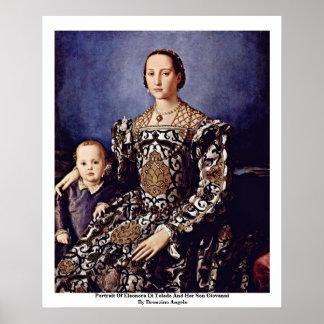 Portrait Of Eleonora Di Toledo  By Bronzino Angelo Posters
