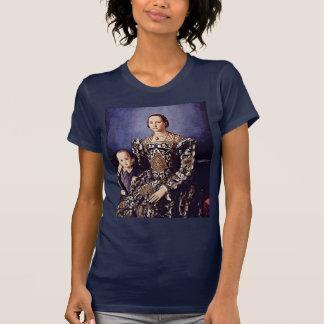 Portrait Of Eleonora Di Toledo  By Bronzino Angelo T-Shirt