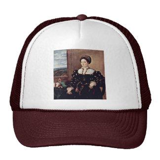 Portrait Of Eleonora Gonzaga By Tiziano Vecellio Hats